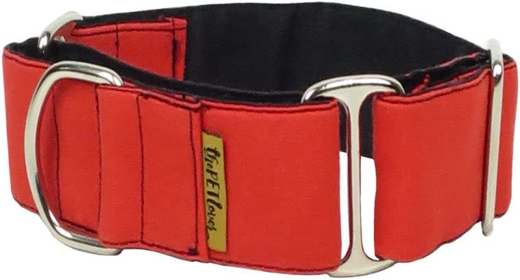 ThePetLover - Collar Martingale Rojo para Perros
