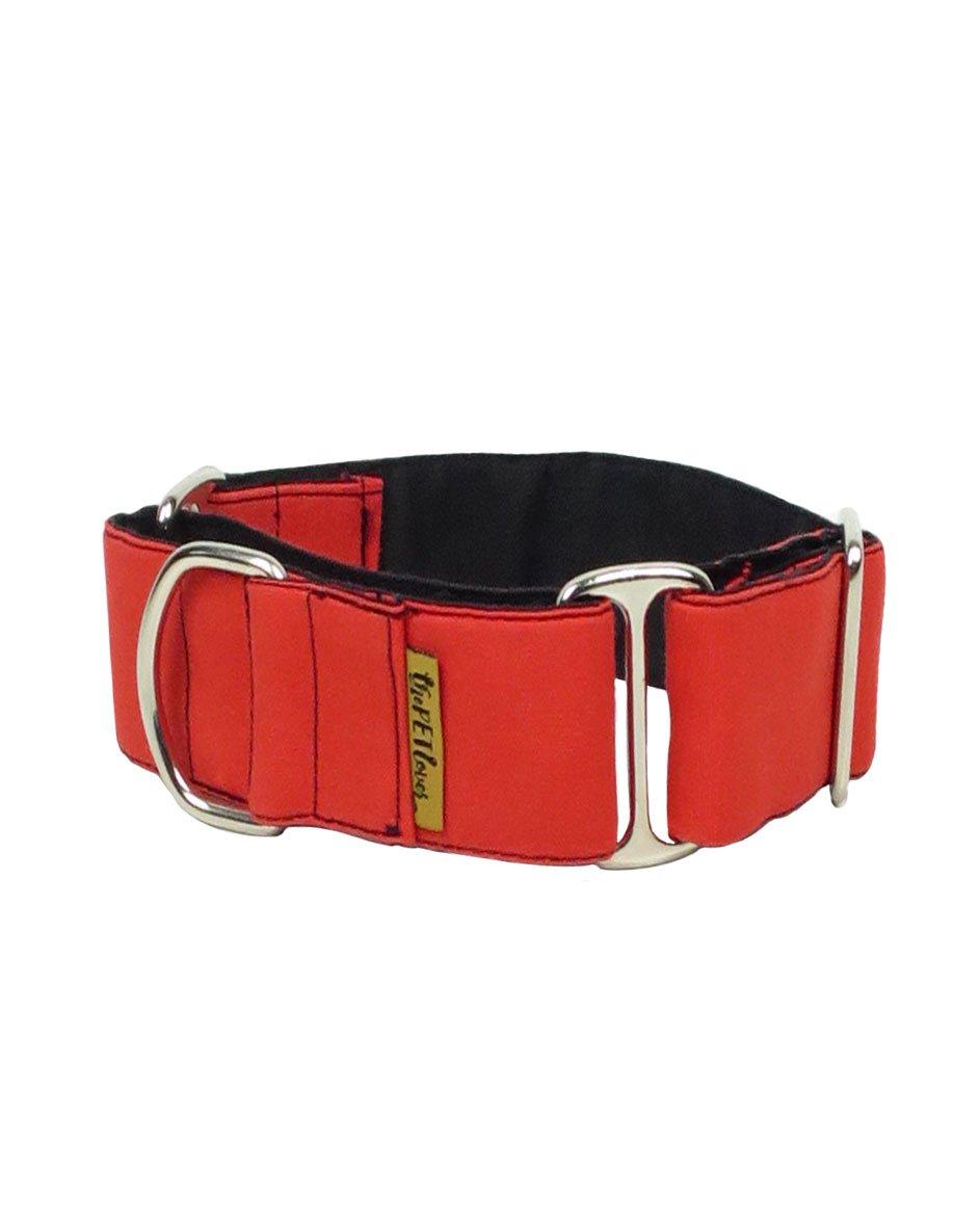 Collar Martingale para Galgo de color Rojo y Negro