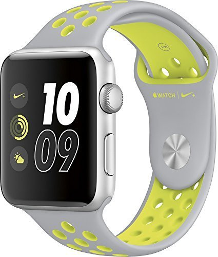 Apple Apple Watch Nike+ 42mm Silver Aluminum Case Silver/Volt Nike Sport Band Silver Aluminum MNYQ2LL/A
