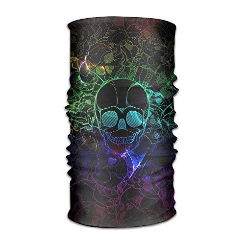 Skull Rainbow Color Headband Mask Multi-use Sports Hair Band Sweatband Turban For Fitness