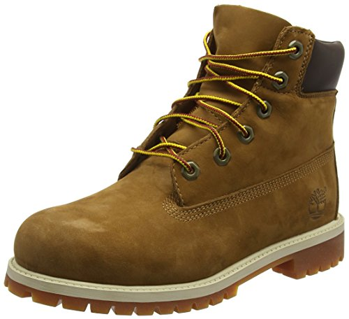 Timberland 6'' C12907 Premium Waterproof Boot,Rust Nubuck/Honey,5 M US Big Kid by Timberland