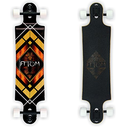 "Atom Longboards Drop Through Longboard - Double Drop - 38"", Woody Diamond"