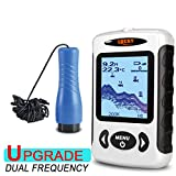 LUCKY FF718D Sonar Ice Fishfinder Wired 100M 60 Degrees Beam Angle Dual Frequency Rechargeable Battery Fish Finders And Other Electronics LUCKY