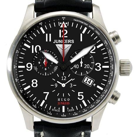 Junkers 6684-2 - Cr - Reloj de caballero de cuarzo, correa de piel: Amazon.es: Relojes