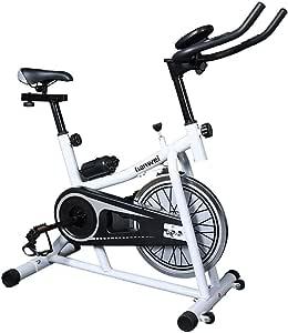 Bicicleta de ejercicio profesional para interiores - Transmisión por correa ultra silenciosa que adelgaza el equipo de ejercicios abdominales con dial digital electrónico para bicicleta deportiva: Amazon.es: Deportes y aire libre