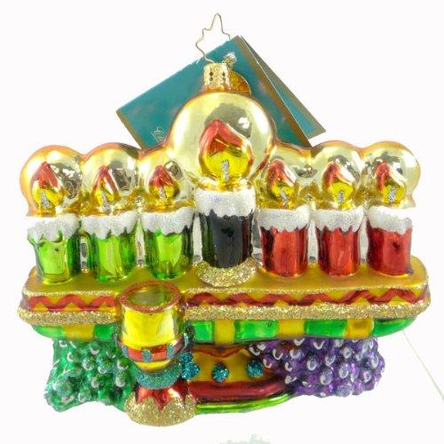 Christopher Radko KINARA GLOW Blown Glass Ornament Holiday Kwanzaa