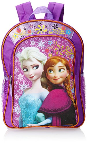 Disney Frozen Anna and Elsa Glitter Flowers Zaino