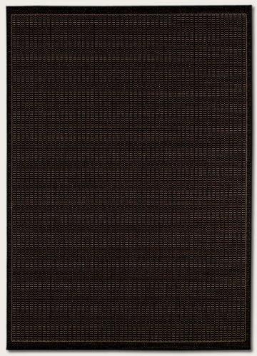 Couristan 1001/2000 Recife Saddle Stitch Black/Cocoa Rug, 3-Feet 9-Inch by 5-Feet 5-Inch