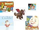 Children's Gift Bundle - Ages 3-5 [5 Piece] - Shrek Forever After Memory Game - Jake and the Never Land Pirates 24 Piece Puzzle Toy - Ty Beanie Baby - Scorch the Dragon - Cuddle. Hardcover Book - Th