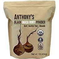Anthony's Organic Black Maca Powder, 1lb, Raw, Gluten Free & Non GMO