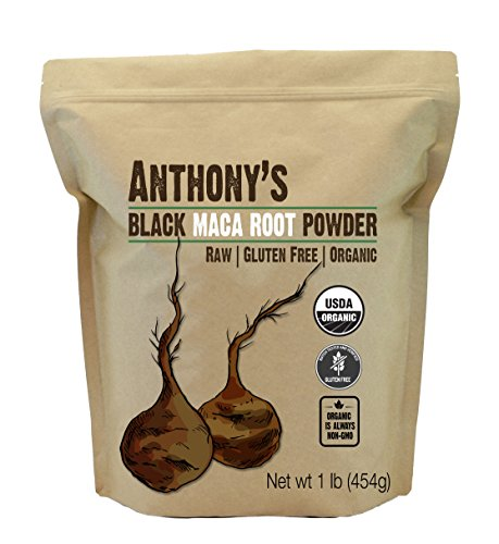 Anthony's Organic Black Maca Powder (1lb), Raw, Gluten Free & Non-GMO