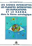 Les signes interceptés, les planètes interceptées, les duplications et le karma dans le thème astrologique