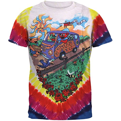 Liquid Blue Men's Grateful Dead Summer Tour Bus T-Shirt, Multi, XX-Large -