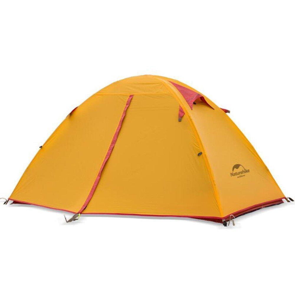 WJJH Tienda de la persona de la familia 2 sola tienda de campaña del doblez al aire libre doblar la tienda para acampar que viaja