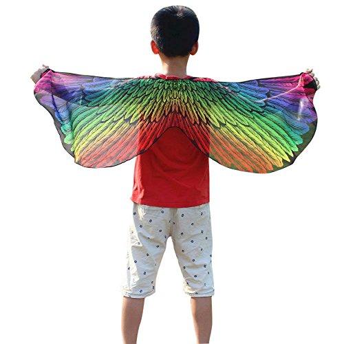 FarJing Child Kids Boys Girls Bohemian Butterfly Shawl Pashmina Costume Accessory(Multicolor)