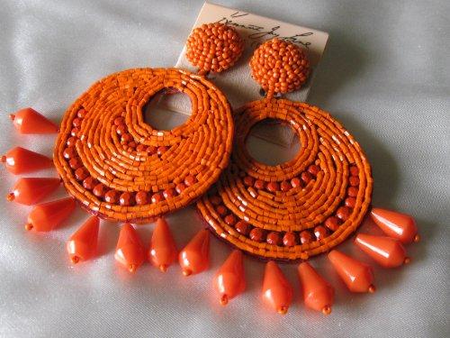 Coral Disc Earrings - 3