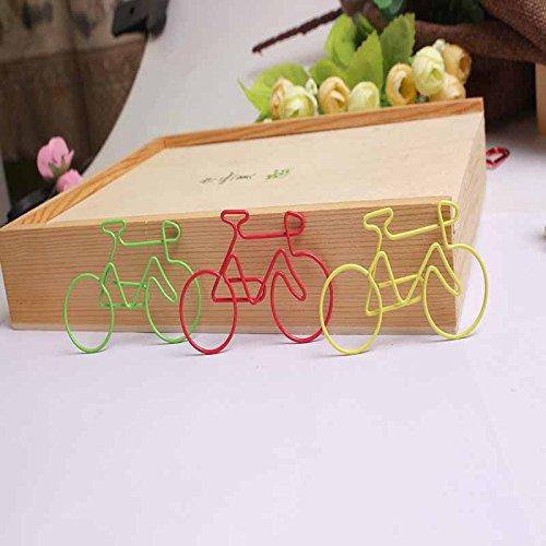 colore casuale 4/pz colorato bici a forma di graffette in metallo file clip Pack