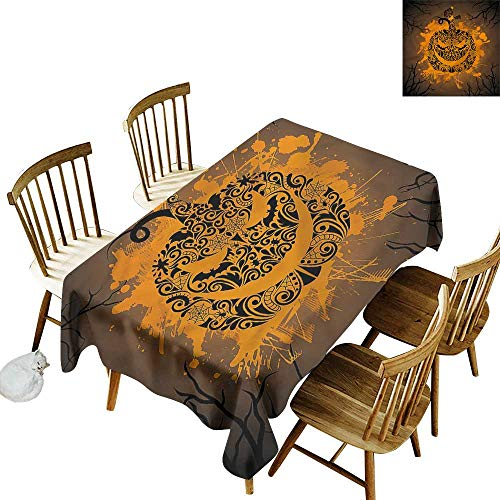 (Anti-Fading Tablecloths Halloween Jack o Lantern Ghosts Party Decorations Table Cover Cloth 54