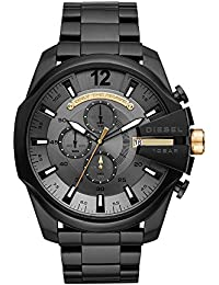 Men's 'Mega Chief' Quartz Stainless Steel Casual Watch, Color:Black (Model: DZ4479)