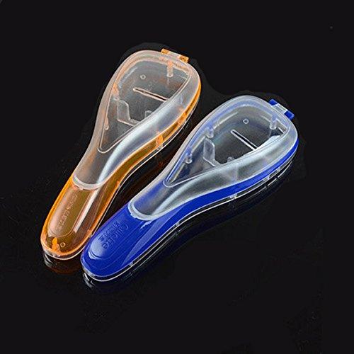 Naranja//Azul wlgreatsp 1 Paquete para Hombre Cuchillas de Afeitar de Viaje Caja de Viaje Organizador de la m/áquina de Afeitar Manual Almacenamiento para Gillette