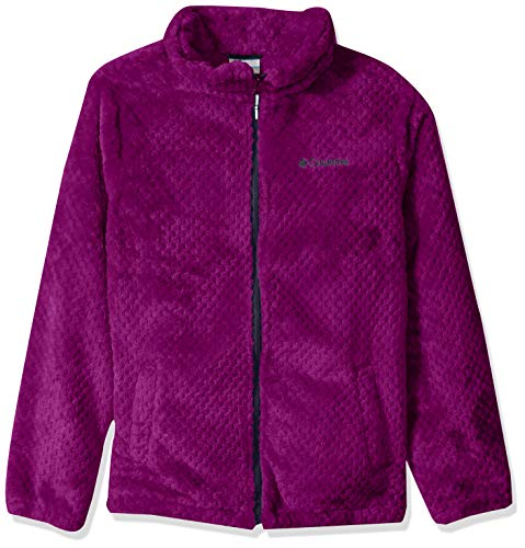 Columbia Girls' Big Fire Side Sherpa Full Zip, Bright Plum/Nocturnal, Small