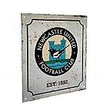 Newcastle United Retro Logo Sign - Multi-colour