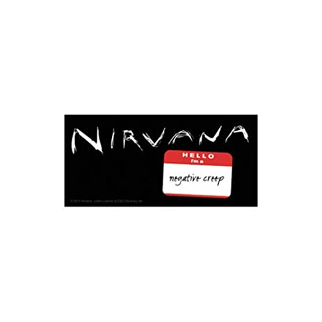 Nirvana negative creep rock band music bumper sticker decal by superheroes brand