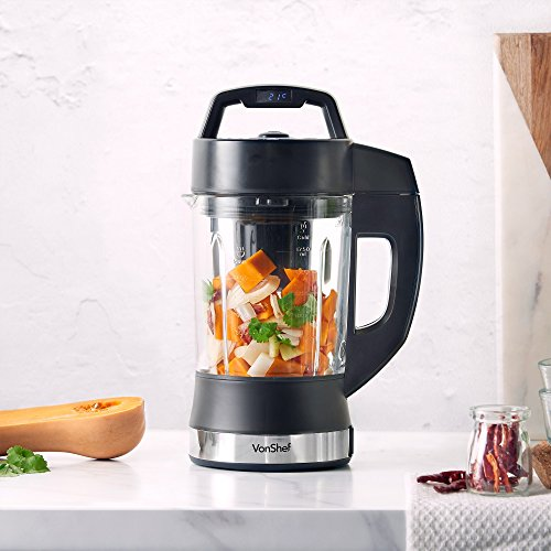 VonShef Multifunctional Digital Soup Maker 900W 1.75L Smoothies & Shakes Machine - Blending Blade - 4 Modes