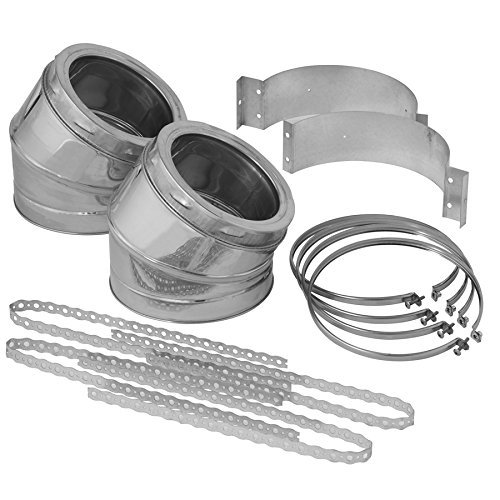 7-Piece Chimney Pipe Elbow Accessory Kit 30 Degree