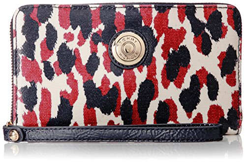 Tommy Hilfiger TH Signature Coin Carry All Wallet NavyRed One Size
