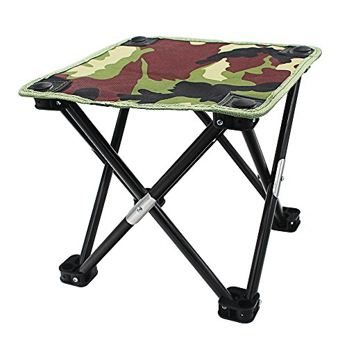 maxgoods Outdoor Foldable Fishing Stool, Portable Barbecue Lounge Chair, Sketch Chair, Suitable for Camping, Fishing, Traveling, Hiking, Outdoor Mountain Climbing, Street Stalls,11.4'' x 11.4'' x 10'' by maxgoods