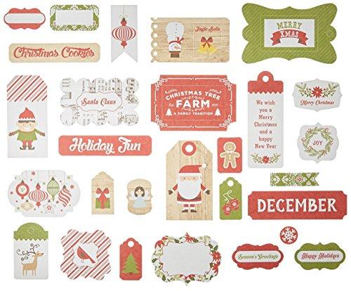 (Echo Park Paper Company I I Love Christmas Frames & Tags Ephemera)