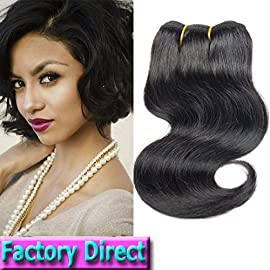 Brazilian Virgin Hair Human Hair Extensions 1 Piece Body Wave 50 g Unprocessed…