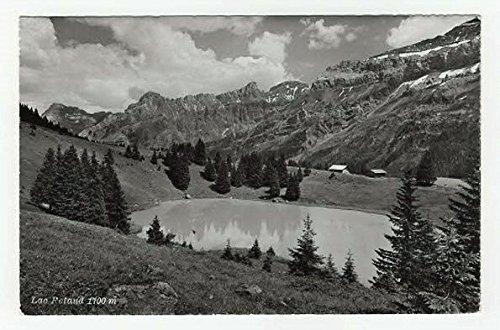 3250 Blank (Lake Retarid, Switzerland Vintage Original Postcard #3250 - 1950's)