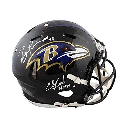 (Ray Lewis Ed Reed HOF Autographed Baltimore Ravens Proline Full-Size Helmet - JSA COA)