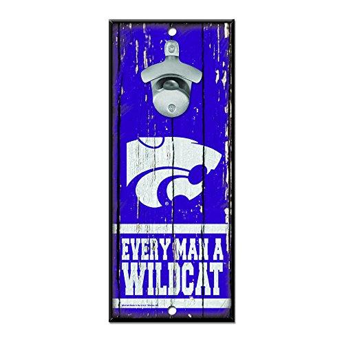(NCAA Kansas State Wildcats Wood Bottle Opener Sign, 5