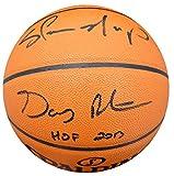 Gary Payton & Shawn Kemp Autographed Spalding I/O Basketball Seattle Sonics PSA/DNA