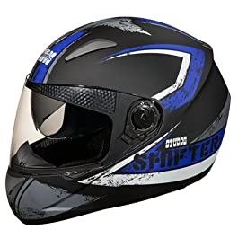 Studds SHIFTER D1 Decor Full Face Helmet (Matt Black and Grey, M)
