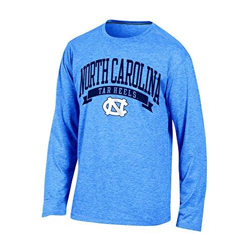 - NCAA North Carolina Tar Heels Adult Men Long sleeve Crew Neck Tee, Medium, Blue Heather