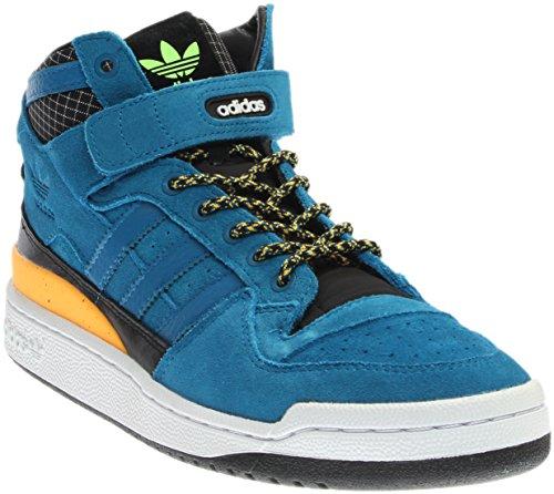 Adidas hombre 's Forum Mid refinado Azul / negro f37835 Outlet locations