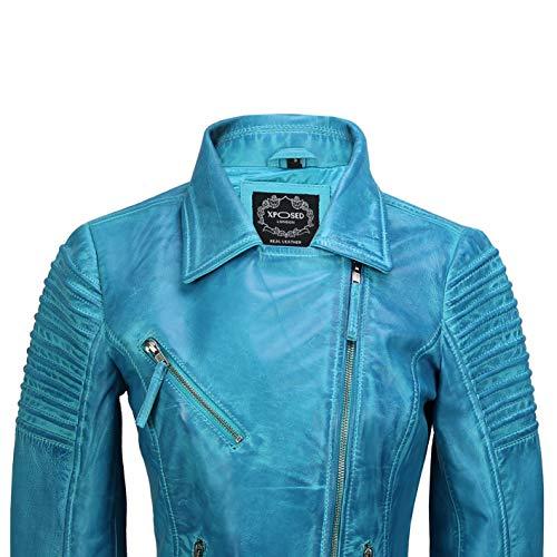 Xposed Blouson Blouson frozen Bleu Blouson Bleu Xposed frozen Xposed Femme Femme ESwwAO