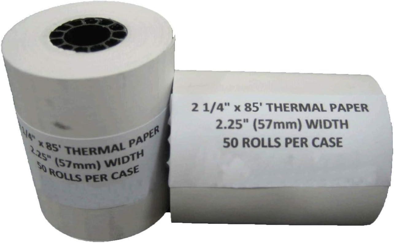 Thermal Paper Rolls 2-1//4 X 85ft  Vx510 Vx570 FD50 T4220 Credit Card Roll! 140
