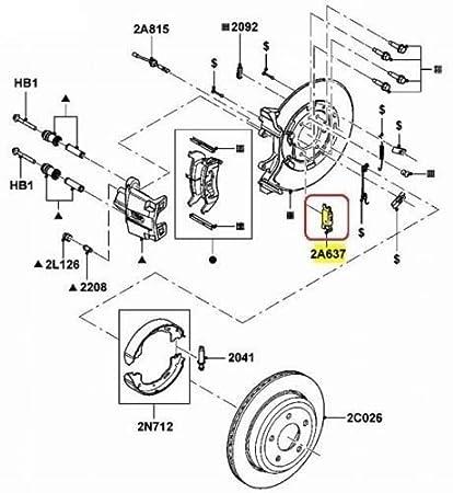 Amazon Com Tpp 2003 2011 Crown Victoria Rear Emergency Parking