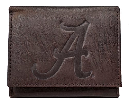 Rico Alabama Crimson Tide NCAA Embossed Logo Dark Brown L...