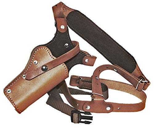 Sportsman's Chest Rig Leather Chest Holster for Sig Sauer P227, P229, P250, P320 & SP2022 Brown Leather. (P320 RX Compact 3.9