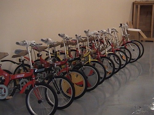 Folding Bike 20 Inchces Color SILVER by BESTCO PRODUCTS (Image #4)