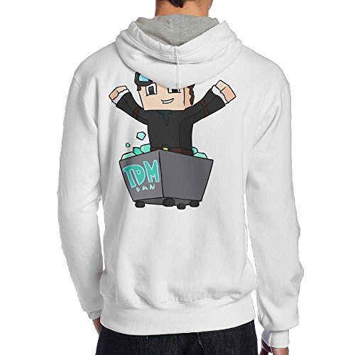 Show Time Men's Diamond TDM Game Fashion Sweater White L