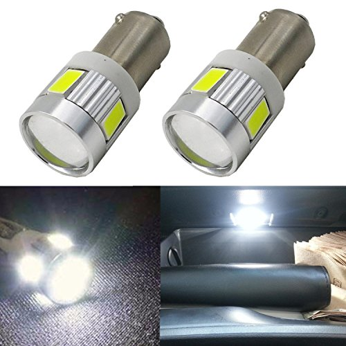 Alla Lighting BA9S Super Bright 6000K White High Power 5730-SMD LED Lights Bulbs BA9 53 57 1895 64111 for Side Door Courtesy Lights,Map Dome Lights (Steve And Dc Halloween)