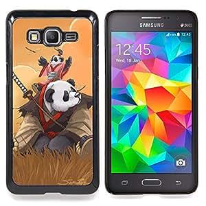 """Qstar Arte & diseño plástico duro Fundas Cover Cubre Hard Case Cover para Samsung Galaxy Grand Prime G530H / DS (Samurai Panda"""")"""