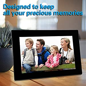 Digital Photo Frame 10.1 Inch Wi-Fi Cloud Digital Picture Frame HD Video 720p with Motion Sensor, 8GB USB Memory 1024x768 High Resolution Support USB & SD/SDHC Card ,iPhone & Android app,Email